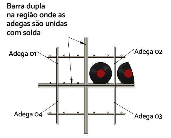 0003 Solda Adega Suporte Garrafa de Vinho Aramada Rio de Janeiro